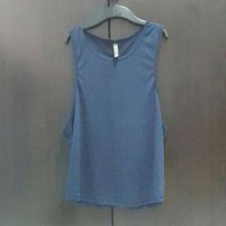 COTTON ON BODY Navy blue tank top