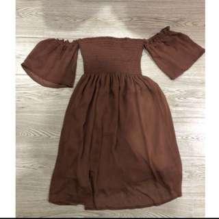 Baju Coklat Sabrina