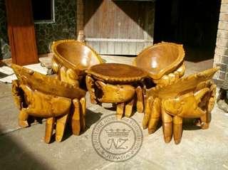 Kursi Tamu Relief Kepiting