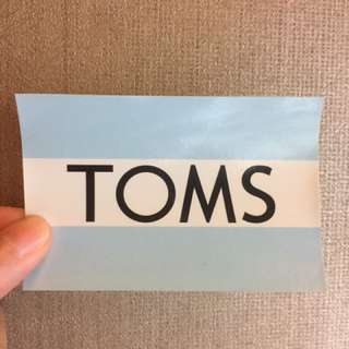 🚚 TOMS貼紙