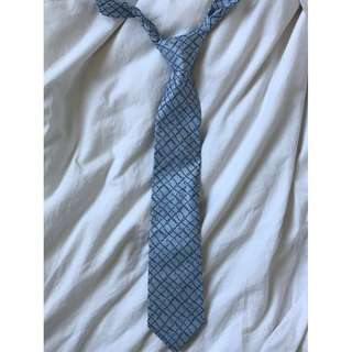 100% Authentic Men's Blue Gucci Tie With Gucci Pattern RRP $200