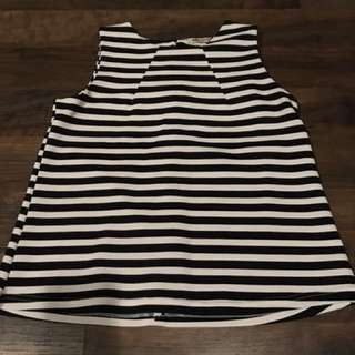 Black & White Striped Tiered