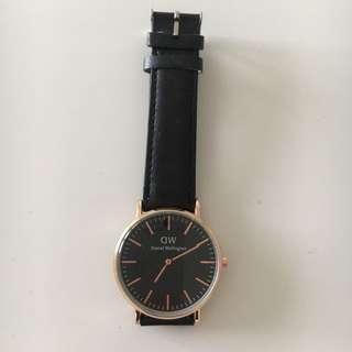 Daniel W classic black watch