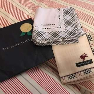 Burberry handkerchiefs x 2