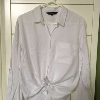 Glassons White Linen Shirt