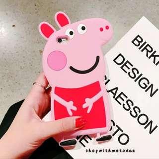 Peppa Pig 3D Iphone X / 8plus / 7plus / 7 / 6S casing