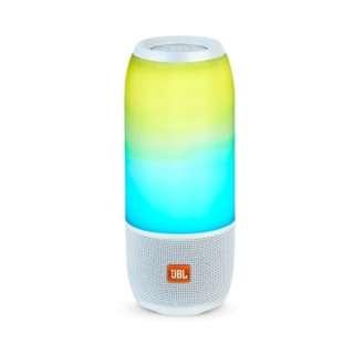 JBL Pulse3便攜式 炫彩燈防水藍牙音揚聲器 - 白色