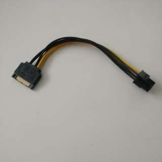 🚚 SATA to PCIE 6 pin adaptor
