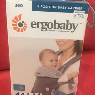 Ergobaby (4 position) 360 baby carier. (Dewy Grey). Comfort thru ergonomicd.