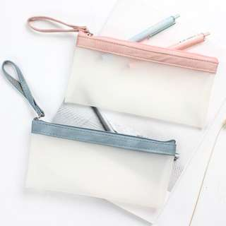 [PO] Suede Minimalist Pencil Case