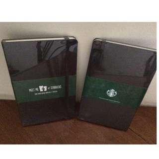 Starbucks Black Moleskin Notebook