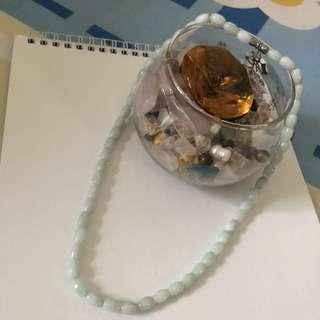 Authentic white jade necklace