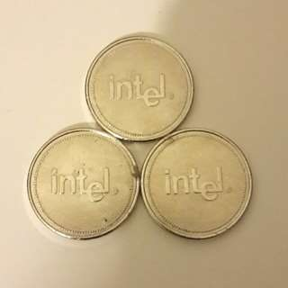 Intel紀念幣三枚