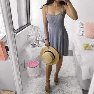 Navy Striped Sun Dress