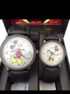 DISNEY MICKEY & MINNIE MOUSE Couple's Watch Le