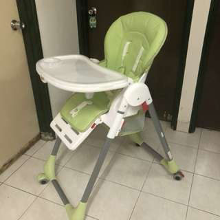 Multi-purpose Baby chair with roller