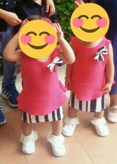 Twins Girl Peplum Dress