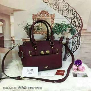 Coach Swagger Dark Wine Color