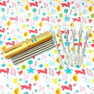 不鏽鋼環保筷+叉子組