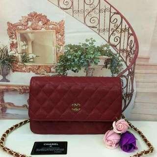Chanel WOC Maroon Color