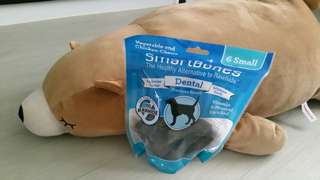 Train your pawfriend to stop chewing on furniture by giving it SmartBones Dental Chews!