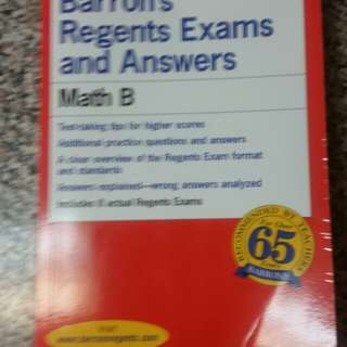 Math B Subject Regents and Answers Test Paperback Book