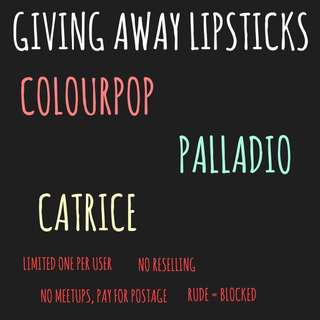 giving away lipstick!!!
