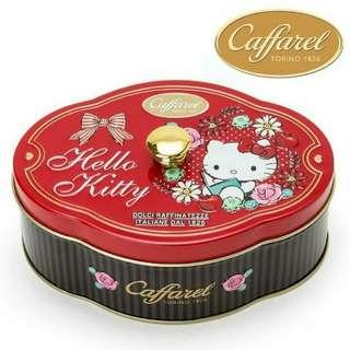 日本 SANRIO Hello Kitty X Caffarel 意大利朱古力連盒罐