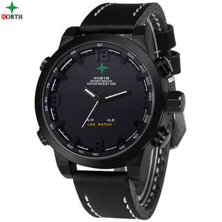 NORTH Jam Tangan Analog Digital - 6017 - Black