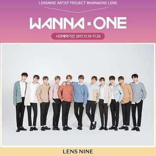 Lens nine X Wanna One 全體海報
