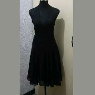 WA288 Teeze Me Black Halter Backless Dress Medium (Almost New)