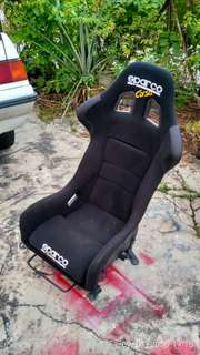 Full bucket seat sparco corsa with saga iswara railing