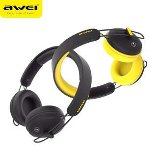[original]AWEI A800BL Bluetooth Headset Wireless + Wired Headphones With Touch Button PU Earmuffs Stereo Bests Sound Headband