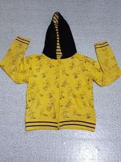 Simpsons Yellow Hooded Jacket