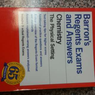 Barrons Regents and Answers Chemistry Science Paperback Book