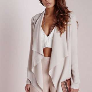 Missguided waterfall light formal jacket