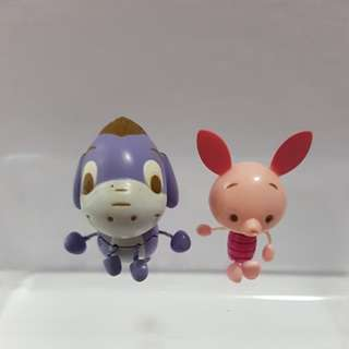 Eeyore and Piglet mini string figures (1 pair)