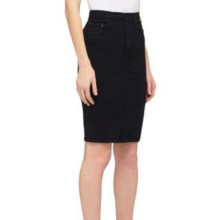 Nobody Denim black denim pencil skirt