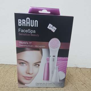 Braun FaceSpa 832s Epilation and cleansing