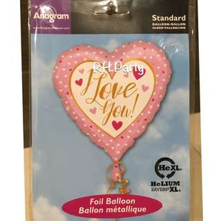 (11/1) Include helium I love you forever foil balloon  ( love / surprise / girlfriend/ Valentine/ wedding)