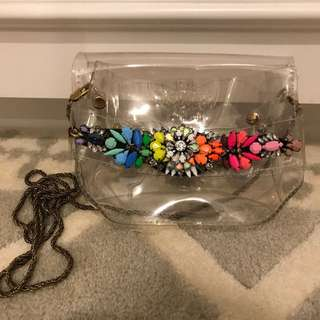 SHOROUK mini transparent bag