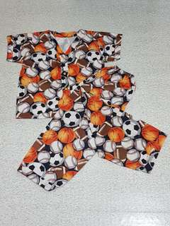 Ball Print Pajama Set