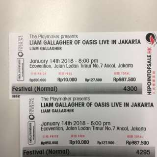 Tiket Liam Gallagher of Oasis - Festival