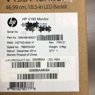 HP LED DISPLAY MONITOR 18.5