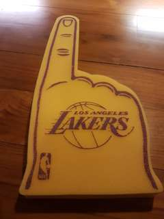 Los Angeles Lakers original foam finger