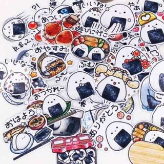 [Instocks 📩] Planner Stickers: Sushi / Rice Ball