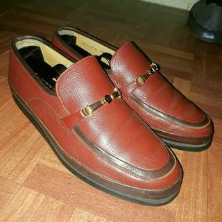 Repriced Authentic Bally Men's Leather Loafers