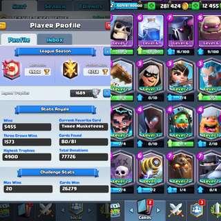Lvl12 Clash Royale Account