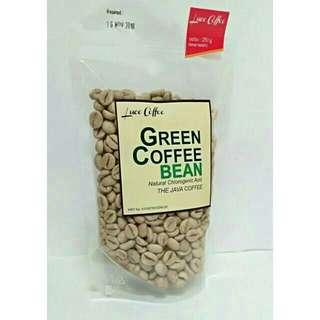 Kopi Hijau Biji / Green Coffee Bean Organic 250gr - Kopi Diet - Green Coffee Export Quality