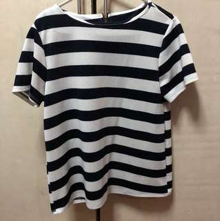Stripped zip-back top